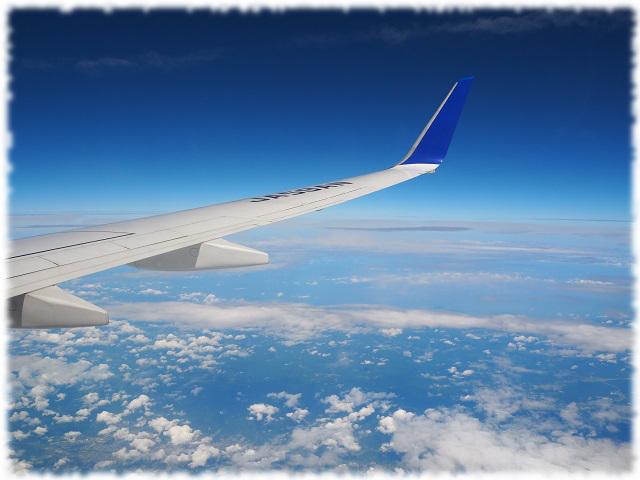 初めての飛行機、および厠